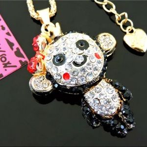 NEW Betsey Johnson Rhinestone Monkey 🐒 Necklace‼️